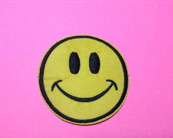 Iron on Sew on Patch: Classic Smiling face