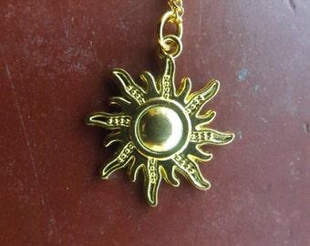 Sun necklace.