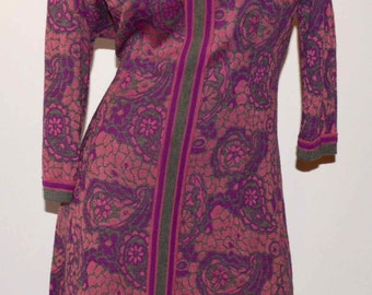 70's Vintage Paisley Dress