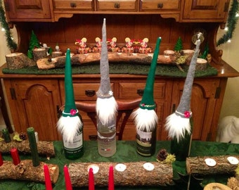 Yule Gnome Wine and Bottle Toppers