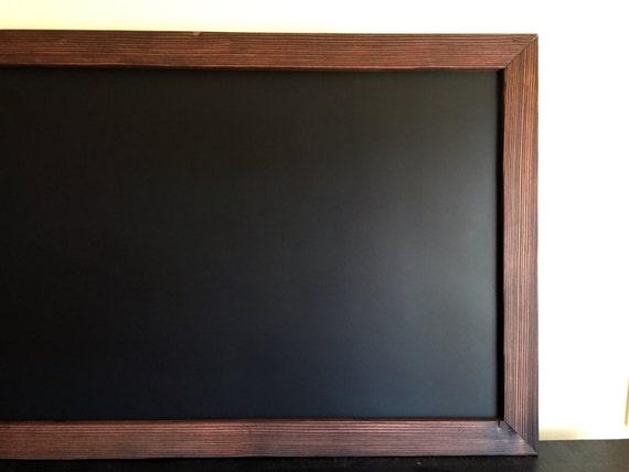 Tableau craie magn tique encadr e 48 po x 30 po cadre - Tableau noir craie magnetique ...