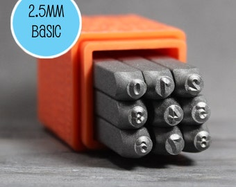 2.5mm Number Stamps,2.5mm Metal Stamps, Metal Design Stamps, Number Metal Stamps, Number Stamp Set INV4009
