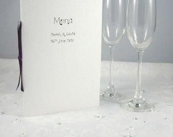 Tie the Knot Handmade Wedding Menu Choice Ribbon Colours Customised