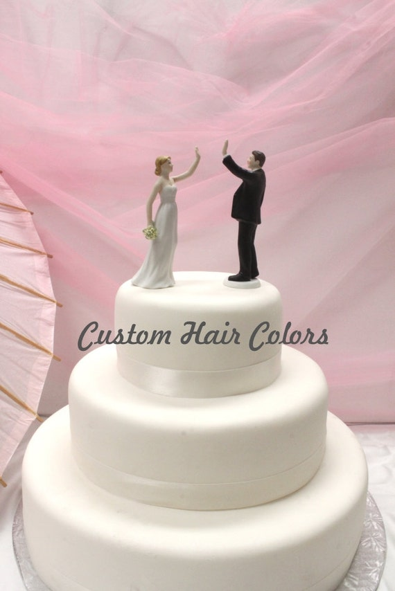 wedding cake toppers high five wedding cake topper personalized wedding high five 26493