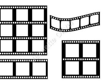Assorted Film Strips with insert templates. SVG Digital Download