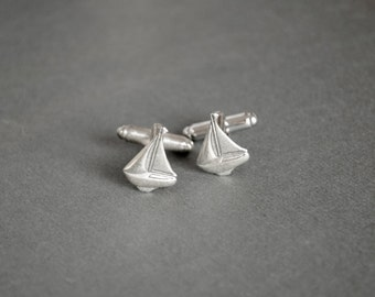 Sailboat Cufflinks Steampunk Cufflinks Sailboat Gifts Nautical Gifts Gifts for Him Sail Boat Men's Gifts Nautical Cufflinks Marine