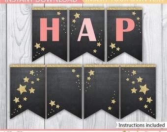 Twinkle Star Banner / Twinkle Star Birthday Banner / Twinkle Twinkle Banner / Twinkle Star Decoration / Twinkle Twinkle Printable / INSTANT