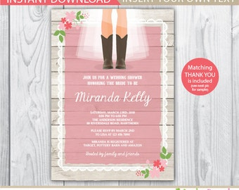 Cowboy boot invitations – Etsy