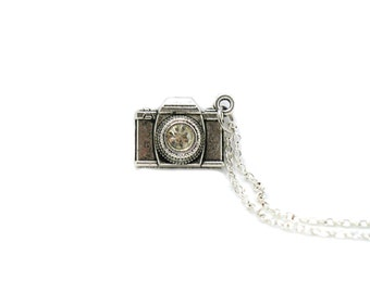 Camera Necklace, Charm Necklace, Charm Jewelry, Camera Pendant, Camera Jewelry, Camera Charm, Jewelry Gift, Photography Necklace, Gift Ideas