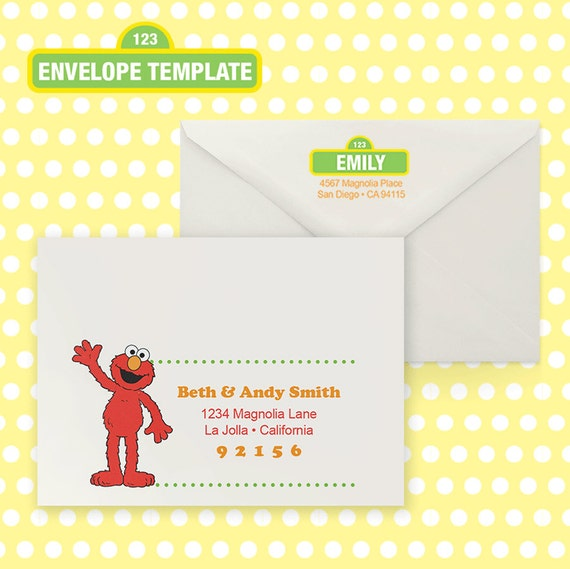 Printable A7 Elmo Envelope Template For Ms Word .Docx