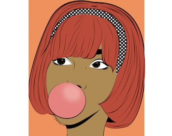 Daphne pop art girl poster print