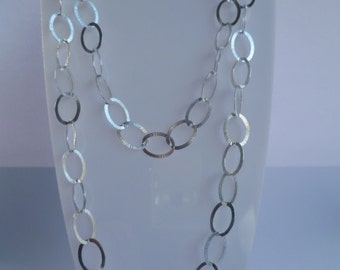 Silver 925 necklace adjustable Italian style