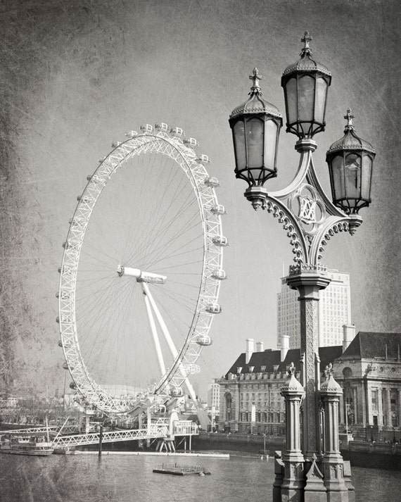 schwarz wei fotografie kunstdruck london dekor london eye. Black Bedroom Furniture Sets. Home Design Ideas