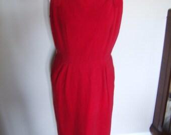 Vintage Red Jumper Dress (XL)