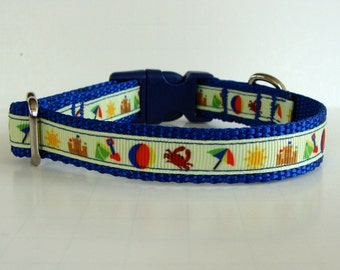 At the Beach Small Dog Collar or Leash