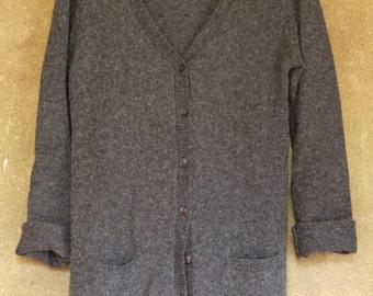 Grey wool cardigan M
