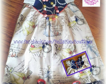 Custom Princess Flutter Sleeve Dress