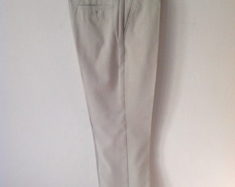 Vintage 70s Stone Farah Trousers, Retro Trousers, Hipster, Designer, Size Waist 34, Leg 31