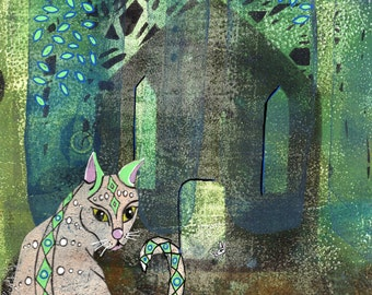 The church cat - Art Print