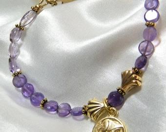 Amethyst Bracelet, Amethyst Jewelry, Boho Jewelry, Gemstone Bracelet, Stone Bracelet, Gemstone Jewelry