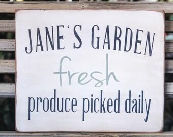 Custom Wooden Garden Sign