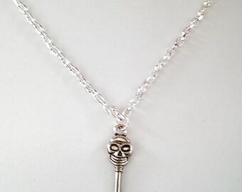 Skull Key Necklace