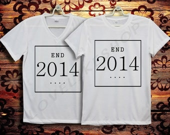 End 2014 End of Year 2 Style T-Shir t and V Neck T-Shirt Men & T-shirt