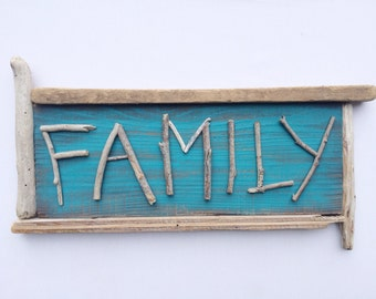 FAMILY Driftwood Sign