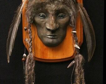 Buffalo Spirit, Tribal Spirit Totem Mask