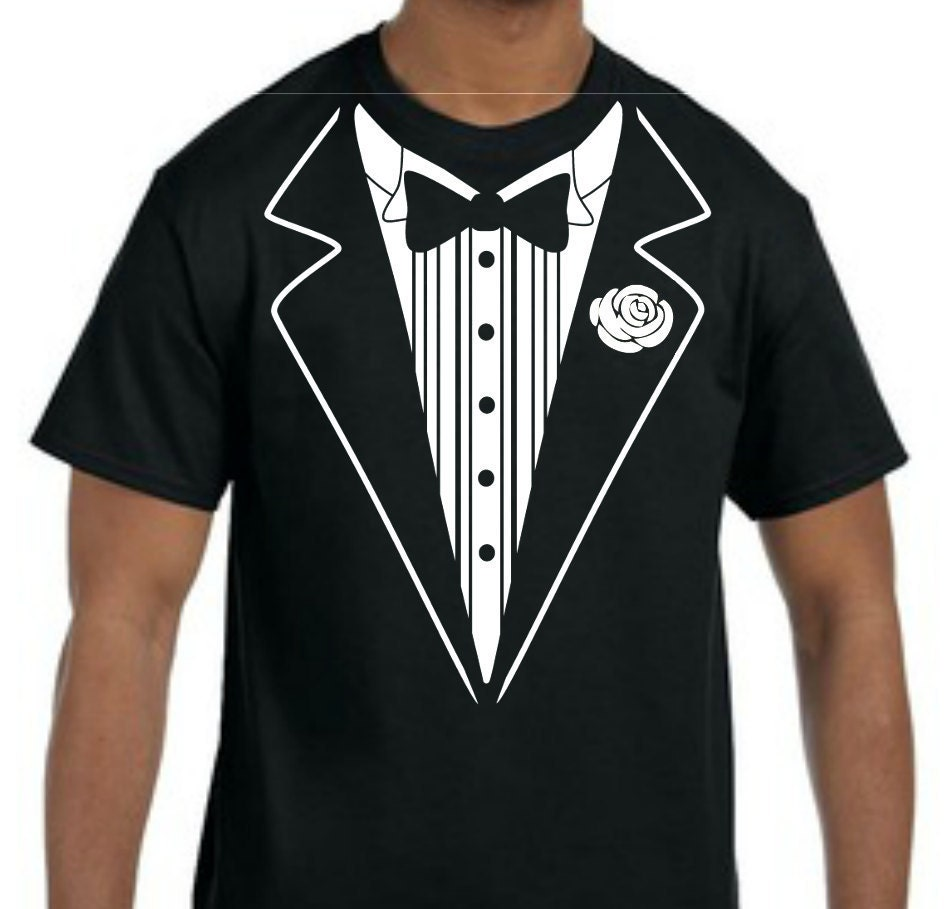 Funny tuxedo tshirt tuxedo shirt wedding party groom retro for Make your own tuxedo t shirt