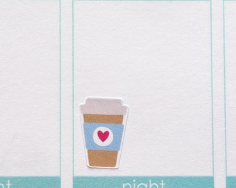 Coffee Tea Planner Stickers - To Go Cup {HOF103}