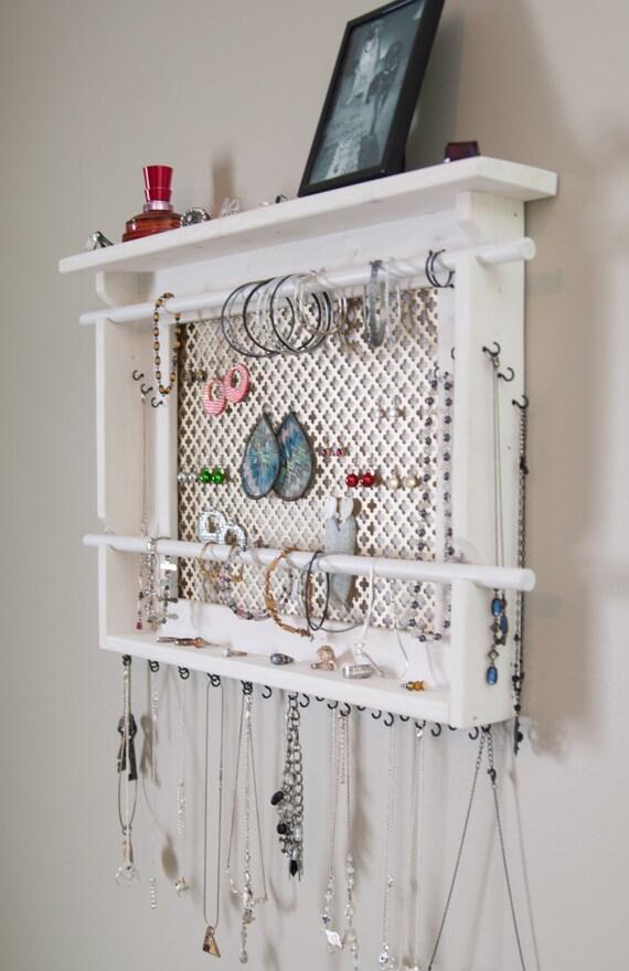 LARGE Jewelry Holder Wall Mounted Jewelry Organizer by ...