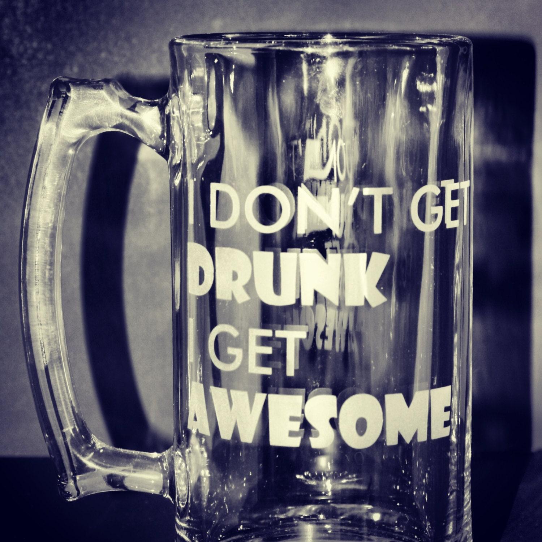 21st Birthday Beer Mug Beer Stein I Don't Get Drunk
