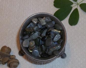 Labradorite Stone Chips- Set of Thirteen Polished Mini Crystals