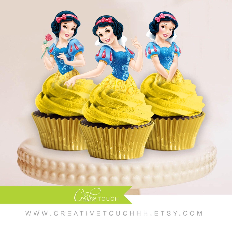Snow White Cupcake Toppers Princess Snow White Disney