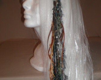 Seafoam Green Long Feather Hair Clip