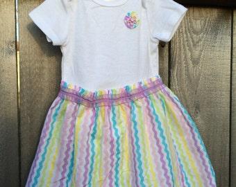 Spring Dress for Baby -- Bodysuit Dress -- Easter Dress