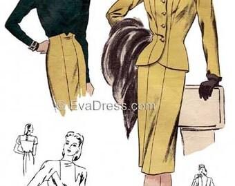 1940's Suit & Blouse, Size Set B 40 to 46 bust