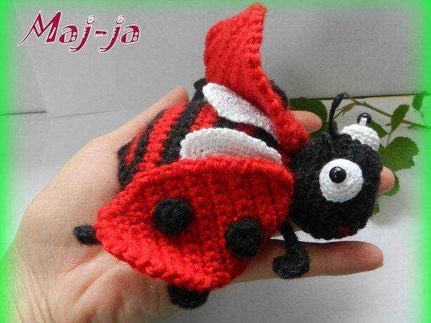 Amigurumi Beetle : Ladybug Amigurumi crochet ladybug crochet insect gift