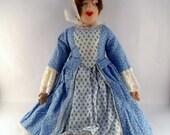Vintage Rag Doll/Vintage Handmade Doll/Vintage Felt Doll/Vintage Handmade Rag Doll/Antique Doll/Vintage Handmade Cloth Doll