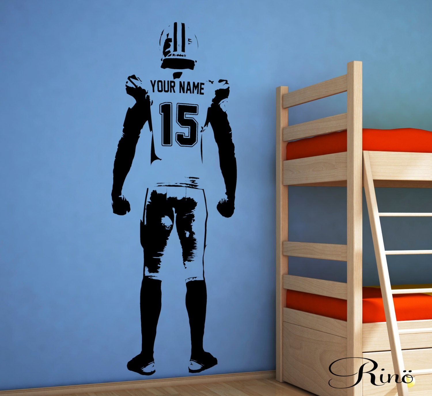 ... Sticker American Football Bedroom Personalized Football Vinyl Player. 1 Part 92