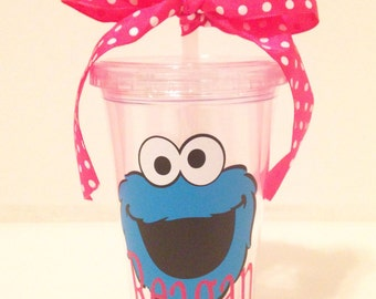 Personalized Cookie Monster Tumbler
