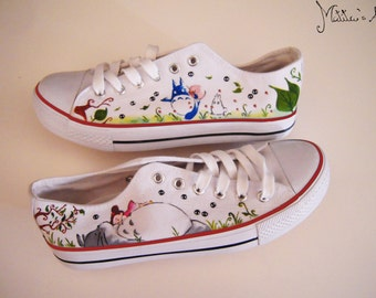 Studio Ghibli hand painted shoes series / Totoro & Mei shoes