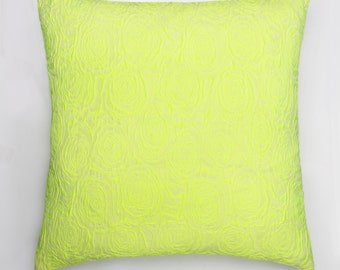 Neon Yellow Limited Edition Embossed Cushion