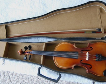 Antique Violin 1/2 size with Bow and Case GERMANY