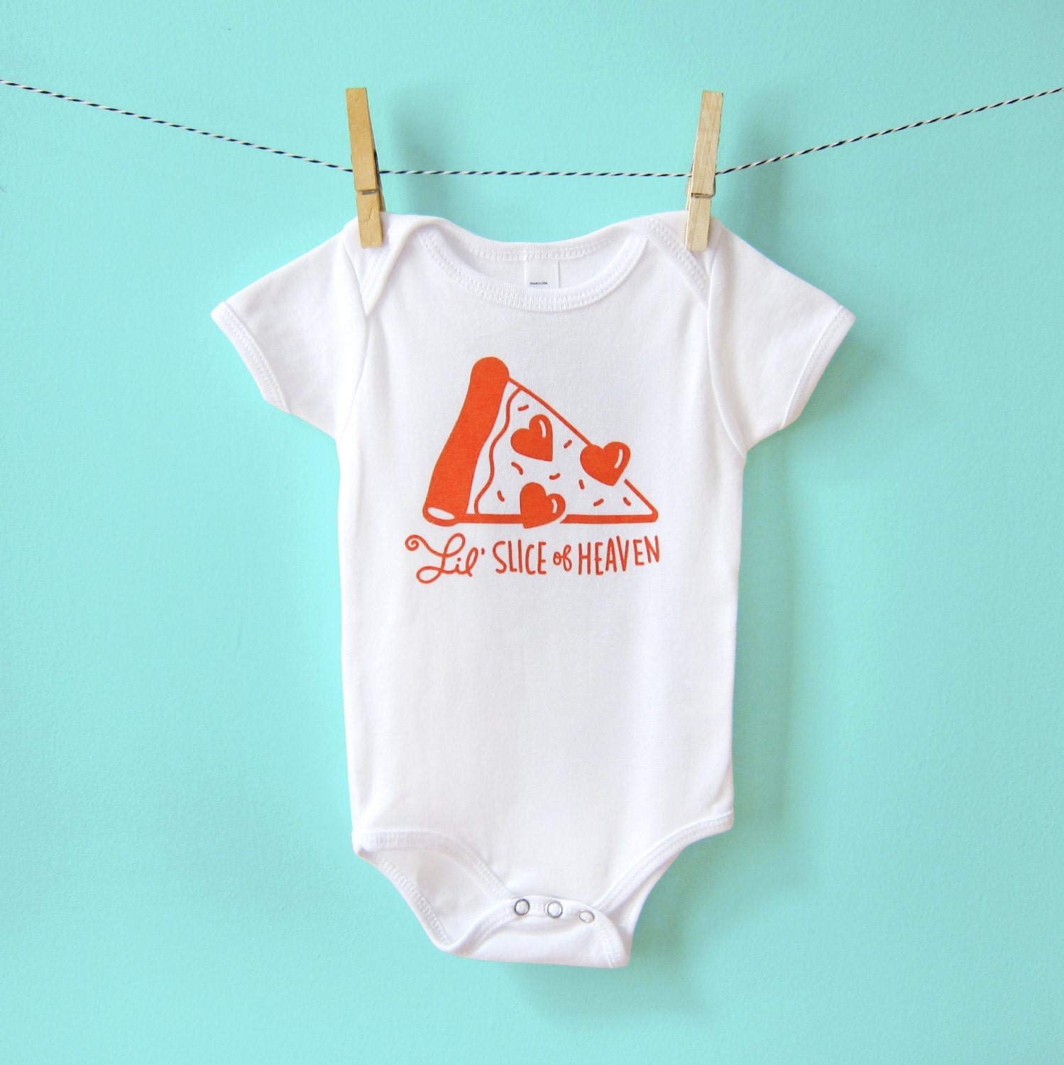 esie Baby Gift Funny Baby Clothes Gender Neutral Pizza
