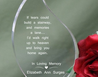 Stairway Memorial Tear Keepsake