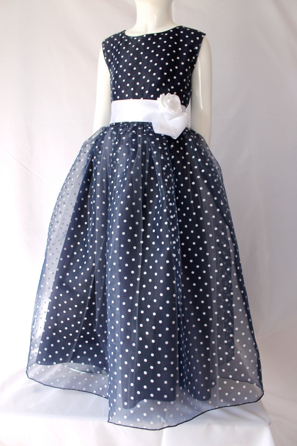 Navy Blue And White Flower Girl Dresses Wedding Dress Designers