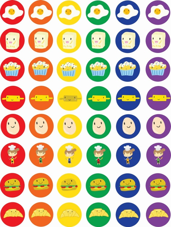 Lively image for printable sticker sheet