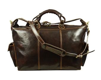 Leather duffel bag, Leather travel bag, Weekender bag, Overnight bag, Duffle bag, Mens duffel bag, Women duffel bag - Charlie